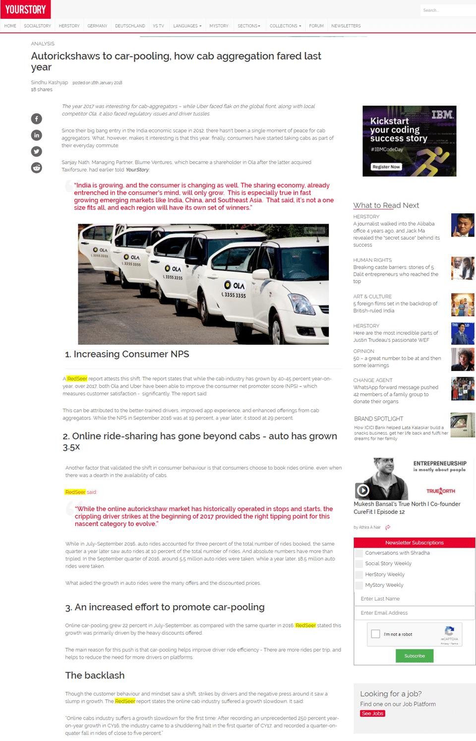 Autorickshaws to car-pooling, how cab aggregation fared last year