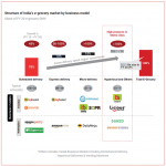 Structure of India's e-grocery market by business model